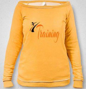 Sudadera Escotada Mujer Training