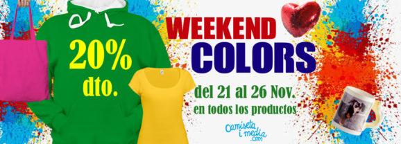Weekend Colors con un 20 % de Descuento