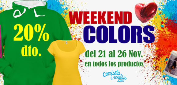 Weekend Colors con un 20 % de Descuento