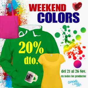 Weekend Colors 20 % Descuento