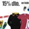 CORRE! LLÉVATE TODO AL 15%